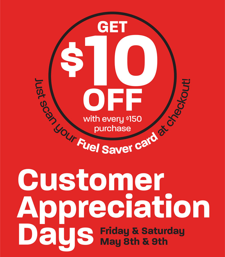 Customer Appreciation Days - May 8-9, 2020