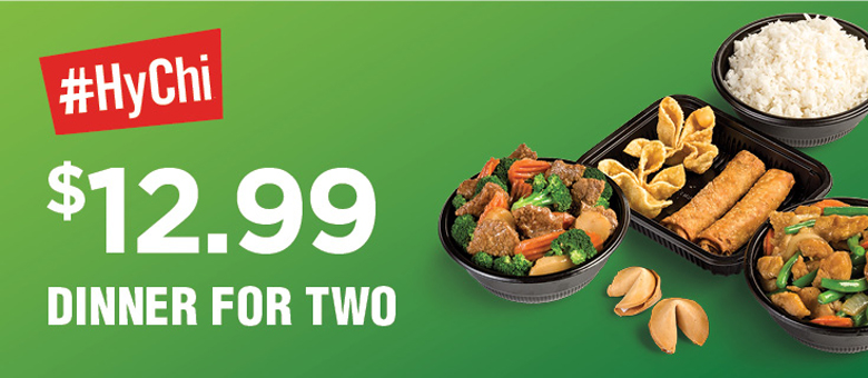 HyChi Dinner for Two - $12.99