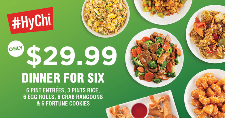 HyChi Dinner for Six - $29.99