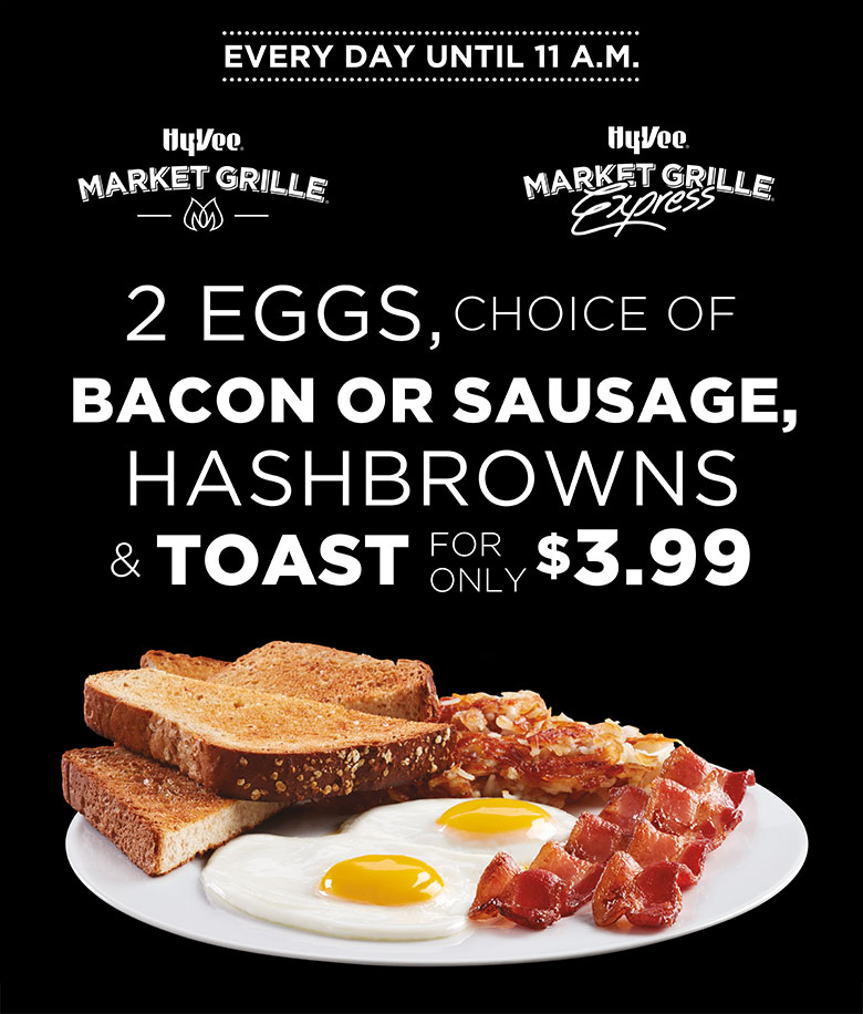 July Breakfast Promo - $3.99