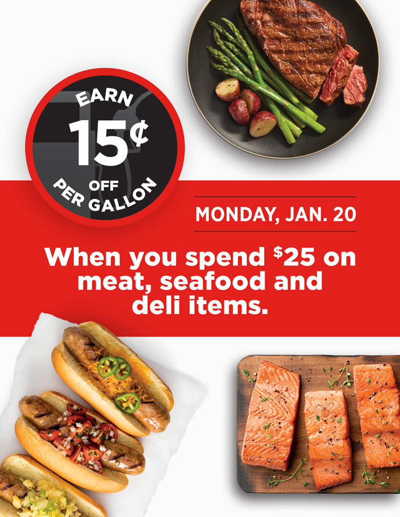 Earn 15 cents for every $25 meat purchase