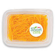 Butternut squash that has been thinly sliced and put in a plastic container