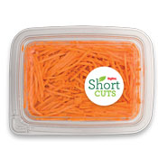 Thinly sliced sweet potato in a plastic container