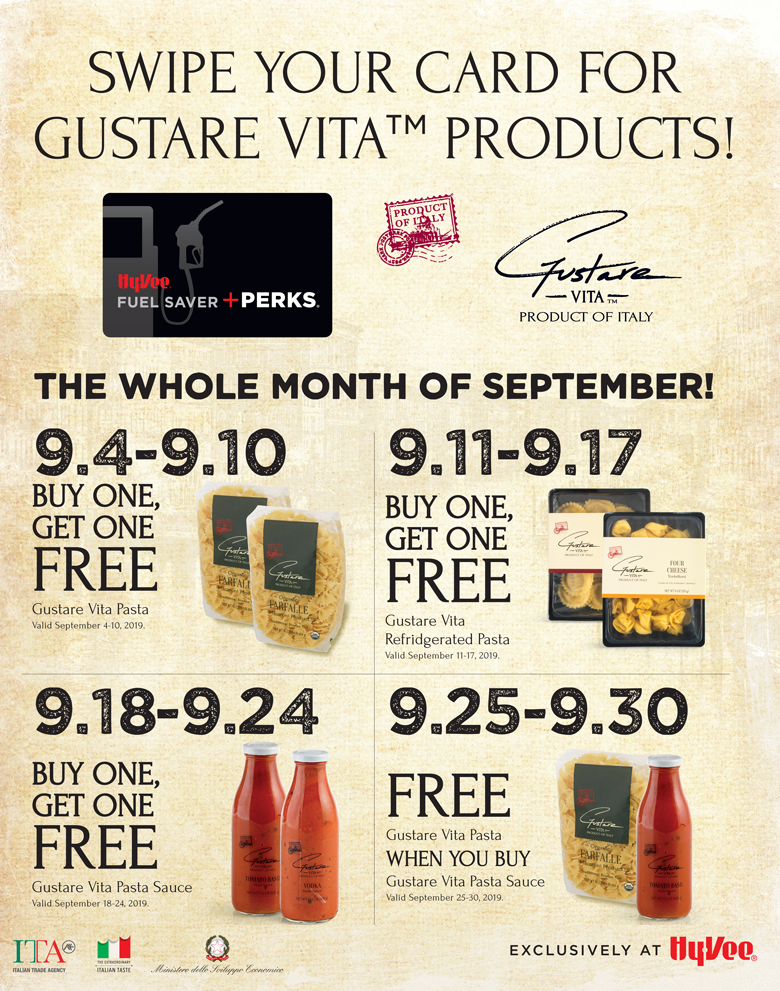 Swipe Your card for Gustare Vita specials
