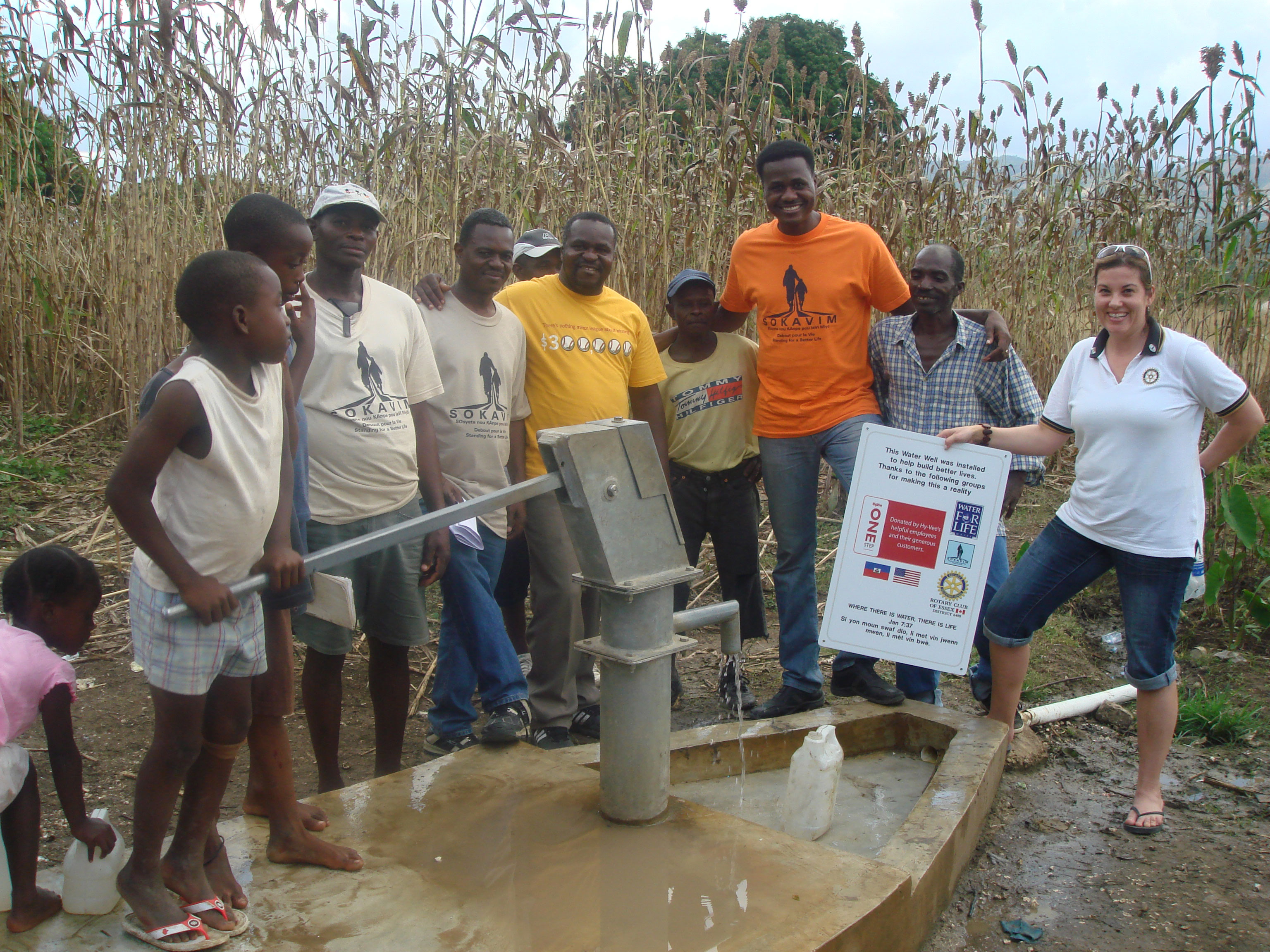 Celebrating a well in Haiti