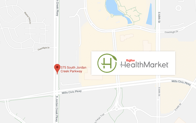 Hy-Vee Health Market West Des Moines Map